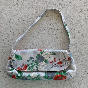 Vintage Old Kimono Upcycle Obi Small Clutch Purse
